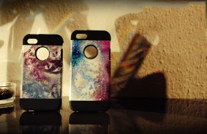 Paddy Artist ART IPhone Case:Cover Blue Lila